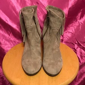 Sam Edelman taupe suede booties